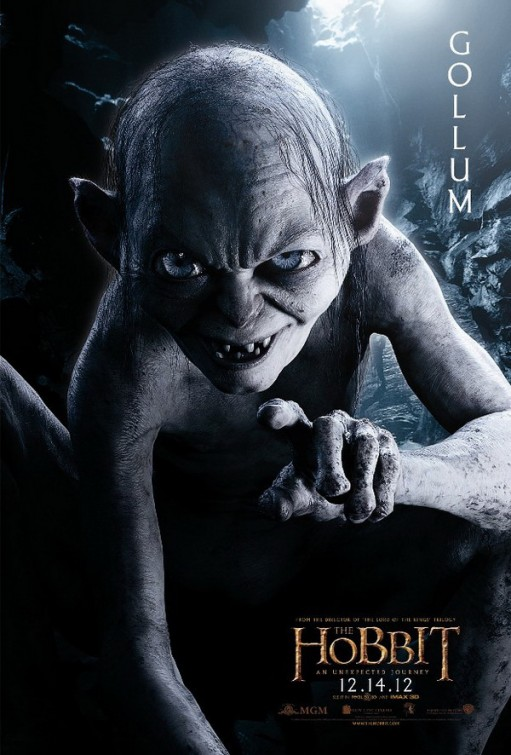 hobbit_an_unexpected_journey individual promo movie poster promo golum andy serkis