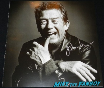 john hurt signed autograph photo rare art book lithograph john hurt signing autographs for fans rare promo alien v for vendetta star rare