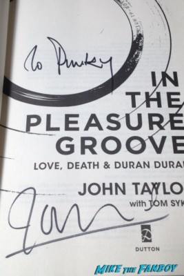 john taylor signed autograph book signing in the pleasure groove rare promo duran duran star rare promo