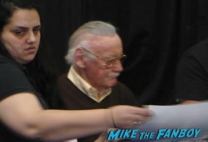 stan lee signing autographs  at Nuke The Fridge 2012 at frank and sons in the city of industry stan lee signing autographs rare