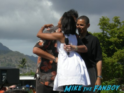 rally for president barack obama president barack obama arriving to a speech in 2008 hawaii rare pre nomination president signed signing autographs rare promo signature