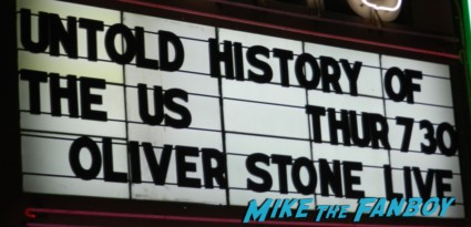 oliver stone The Untold History of the United States book signing at the aero theater in santa monica ca marquee rare promo