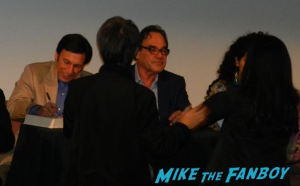 oliver stone signed autograph book signing oliver stone The Untold History of the United States book signing at the aero theater in santa monica ca marquee rare promo