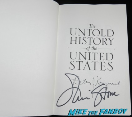 oliver-stone-signed-autograph-book-signing rare promo OLIVER STONE'S UNTOLD HISTORY OF THE UNITED