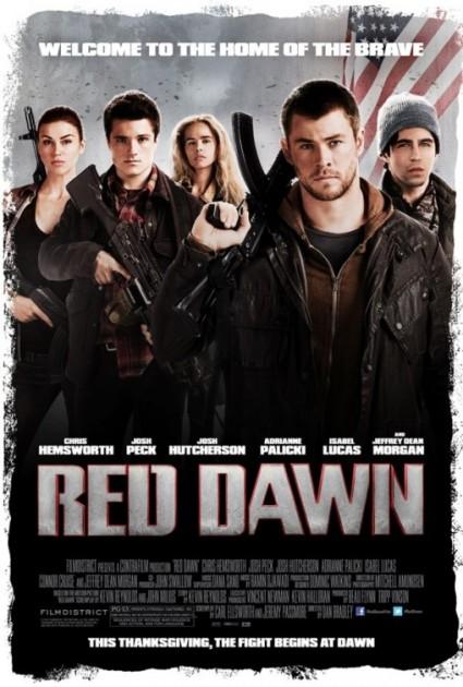 red dawn 2012 movie poster one sheet chris hemsworth josh hutcherson josh peck hot sexy cast photo rare