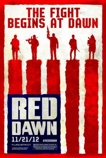 red dawn rare teaser movie poster promo one sheet chris hemsworth josh hutcherson hot sexy rare