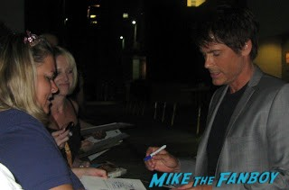 Rob lowe signing autographs for fans hot sexy rare sexy rob lowe posing for photos with fans after signing autographs rare promo photo shoot youngblood about last night... rare signed