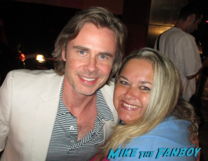 Sam Trammell fan photo rare promo signed autograph rare promo hot with pinky lovejoby
