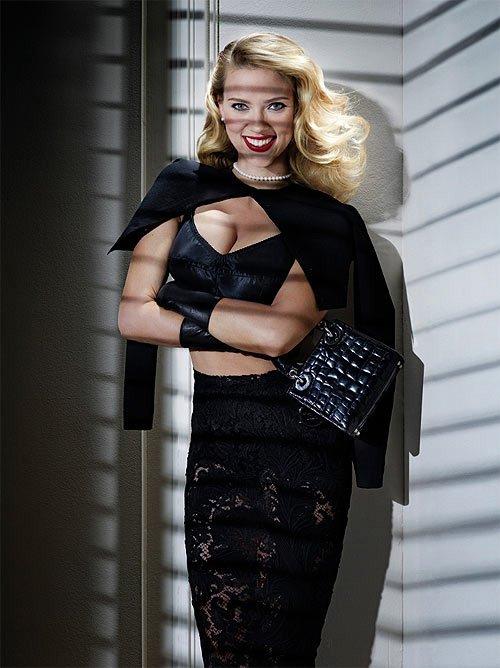 Scarlett Johansson sexy V magazine winter 2012 cover rare promo photo shoot rare promo back widow the avengers hitchcock ghostworld