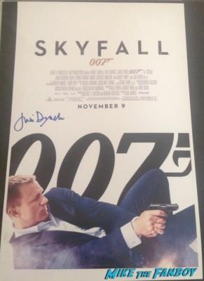Judi Dench signed autograph james bond 007 skyfall promo movie poster rare promo hot sexy daniel craig movie