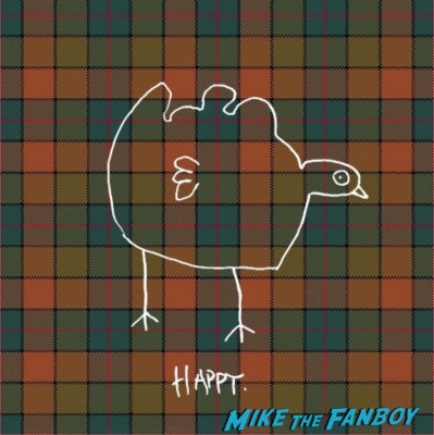 Rare thanksgiving turkey graphic lame turkey drawing rare promo mike the fanboy