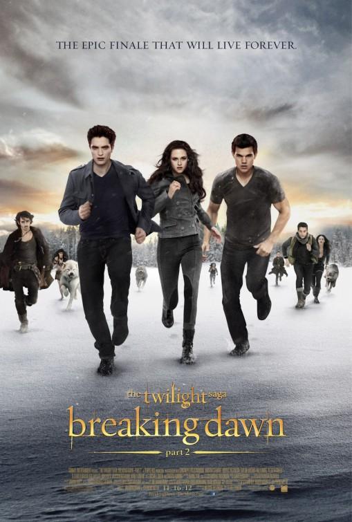 Twilight Breaking Dawn part 2 movie poster one sheet hot sexy rare promo taylor lautner rob pattinson kristen stewart bella