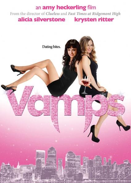 Vamps hot sexy movie poster promo one sheet alicia silverstone krysten ritter sexy vampires rare promo press still