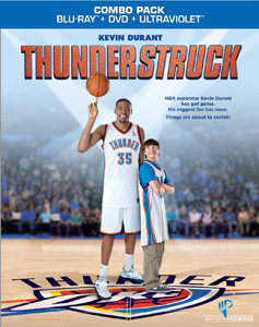 thunderstruck blu ray combo pack key art pack shot rare thunderstruck press promo still photo kevin durant basketball players in the locker room hot
