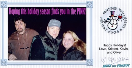 Pinky's 2003 christmas card with kevin spacey and oliver platt rare promo hot sexy the red stars