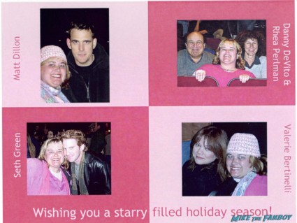 Pinky's 2004 holiday card with seth green Matt Dillon and danny devito