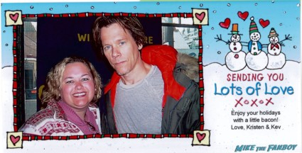 Pinky's 2005 holiday card with kevin bacon and nic cage rare prmo