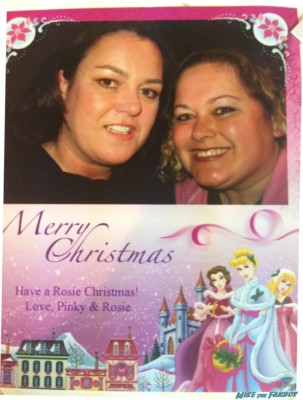 rose O'Donnell in pinky's christmas card for the holidays rare promo