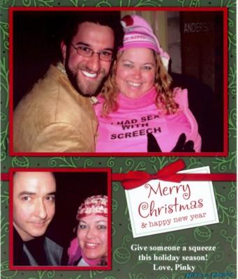 Pinky's 2007 I fucked screech holiday card rare john cusack christmas card holiday card celebrity greeting card