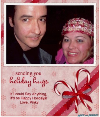 Pinky's 2007 john cusack christmas card holiday card celebrity greeting card