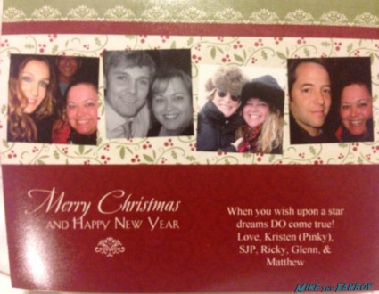 pinky's christmas card 2008 with sarah jessica parker ricky schroder matthew broderick