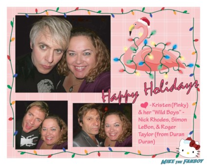 pinky's duran duran holiday card rare simon lebon nick rhodes christmas card rare fan photo