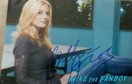 Gillian Jacobs signed autograph hand signed photo rare promo sexy hot rare posing with billy beer signing autographs for fans rare promo hot sexy community star