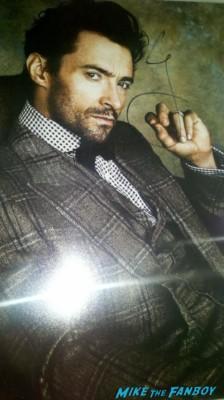 hugh jackman signed autograph hot sexy photo rare promo photo shoot les mes poster promo