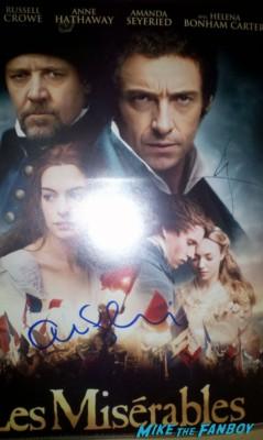 hugh jackman amanda seyfried signed autograph les mis movie poster promo hot sexy rare