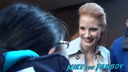 Jessica Chastain signing autographs for fans while promoting zero dark thirty rare hot sexy redhead