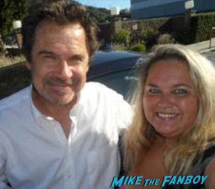dennis miller posing for a fan photo after pulling his car over to greet fans rare promo hot snl star