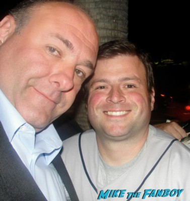James Gandolfini fan photo rare signing autographs for fans tony soprano hot rare