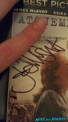 Atonement Joe Wright signed autograph pride and prejudice dvd sleeve cover rare promo signing autographs