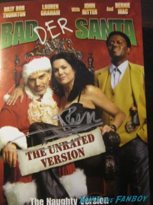 Billy bob thornton signed autograph bad santa dvd cover photo rare promo lauren graham promo rare
