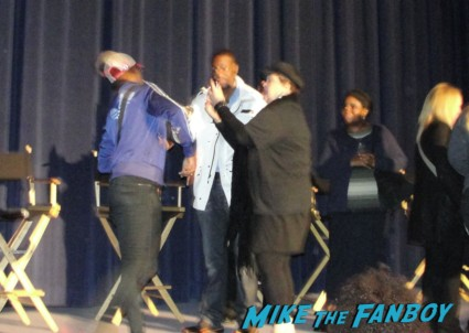 chris tucker signing autographs for fans at a silver linings playbook q and a panel with Bradley Cooper, Jacki Weaver, Chris Tucker, Shea Whigham, Pauly Herman, Dash Mihok and David O. Russell signed autograph poster rare promo