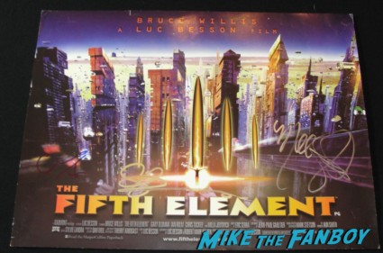 chris tucker signed autograph fifth element uk quad promo mini movie poster Milla Jovovich gary oldman