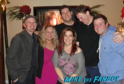 The Mike The Fanboy Family posing for the annual Christmas card hot fanboy and fangirl
