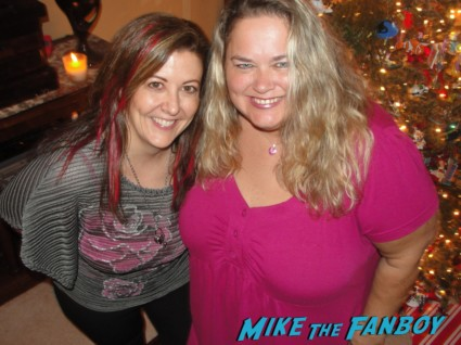 suddenly susan and pinky from mike the fanboy posing for a photo during christmas hot fangirls