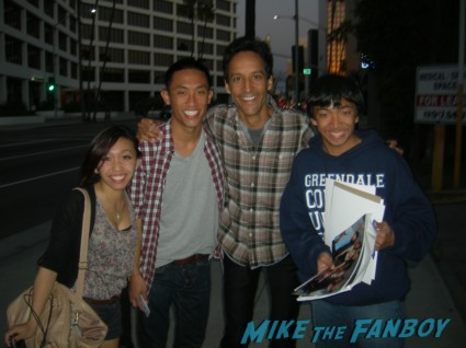 Danny Pudi Signing autographs for fans fan photo at paleyfest 2012 rare promo panel hot rare signed photo rare