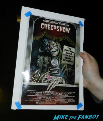 ted danson signed autograph Creepshow mini movie poster promo  signing autographs for fans game of thrones hot se 003