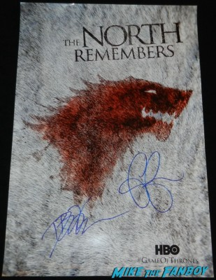 Emilia clarke and D B Weiss signed autograph game of thrones mini poster  signing autographs for fans game of thrones hot se 025