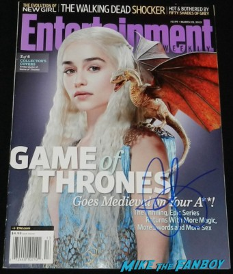 Emilia clarke signed autograph entertainment weekly magazine cover rare promo  signing autographs for fans game of thrones hot se 035