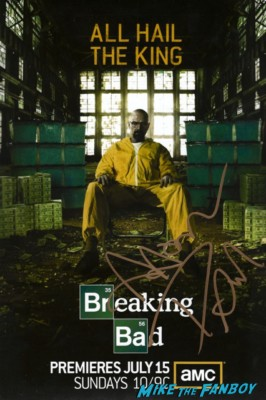 aaron paul signed autograph breaking bad promo mini movie poster promo aaron paul signing autographs for fans at henry's tacos in studio city ca hot sexy breaking bad star big love rare