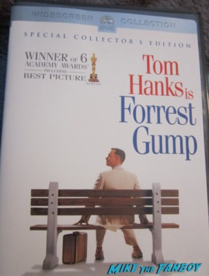 forest gump unsigned dvd cover rare tom hanks promo robert zemeckis