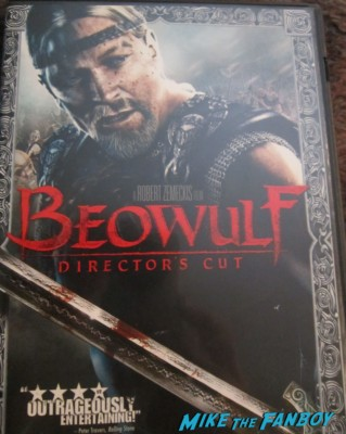 beowulf unsigned dvd cover rare angelina jolie promo robert zemeckis