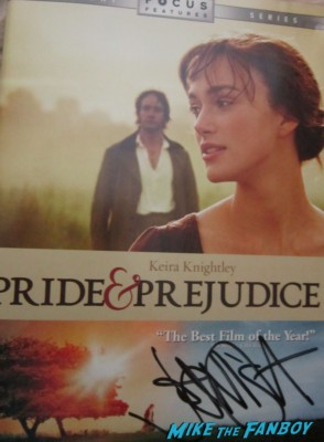 Joe Wright signed autograph pride and prejudice dvd sleeve cover rare promo signing autographs
