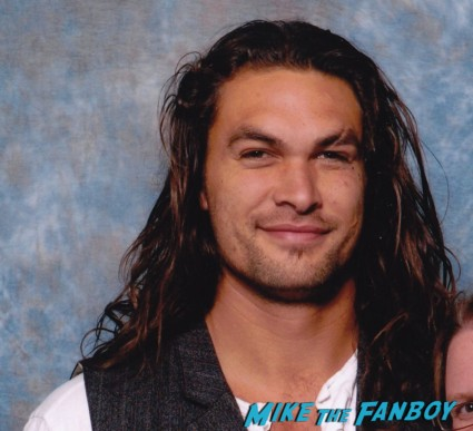 Jason Momoa hot sexy fan photo rare promo long hair game of thrones conan stargate star muscle workout flex rare