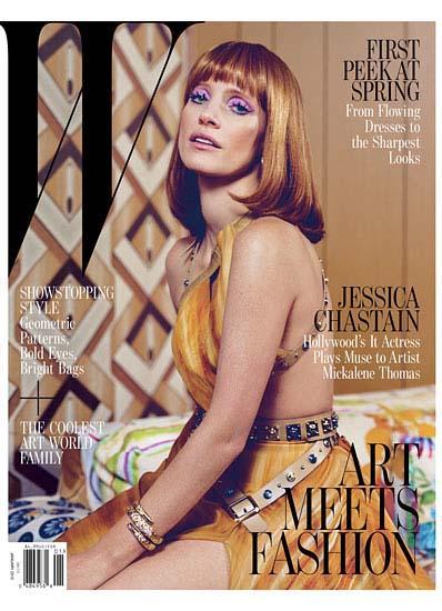 Jess-Chastain- W Magazine cover january 2013 hot sexy photo shoot rare promo zero dark thirty rare promo the help rare promo