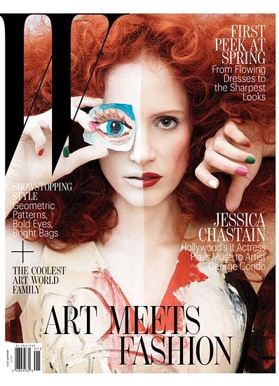 Jess-Chastain- W Magazine cover january 2013 hot sexy photo shoot rare promo zero dark thirty rare promo the help rare promo