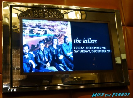 The Killers  live in concert photo poster The Chelsea – The Cosmopolitan – Las Vegas, NV 12/29/12